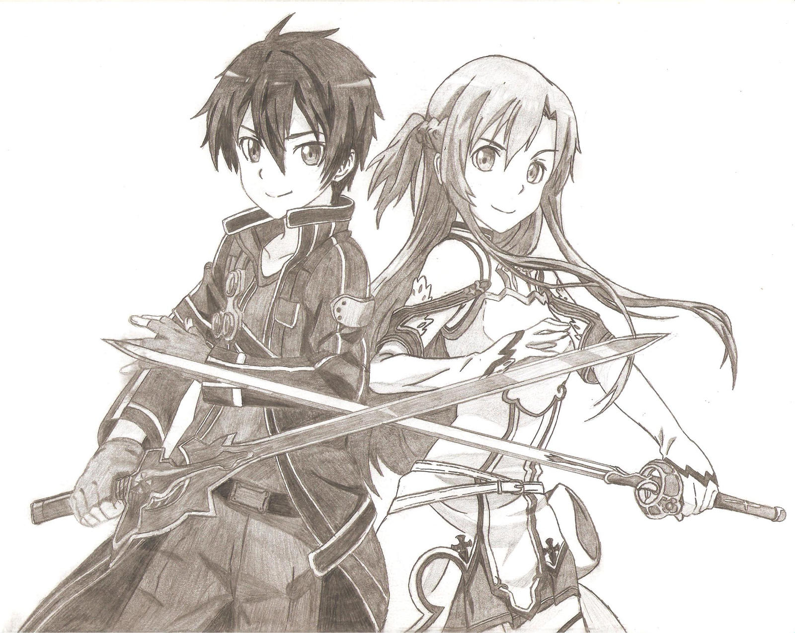 Sword Art Online Kirito Asuna By Zeusafk On Deviantart