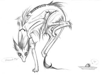 Skim the Zombie Dog by Bochoko