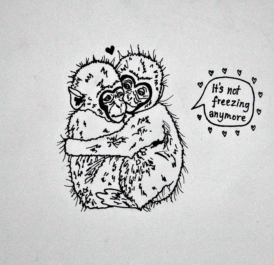 Cute monkeys by YummyBiscuit