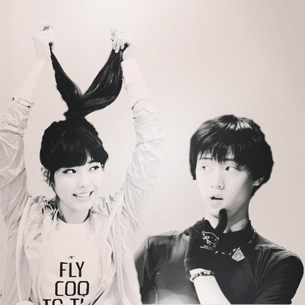 IU and Yuzuru by YummyBiscuit