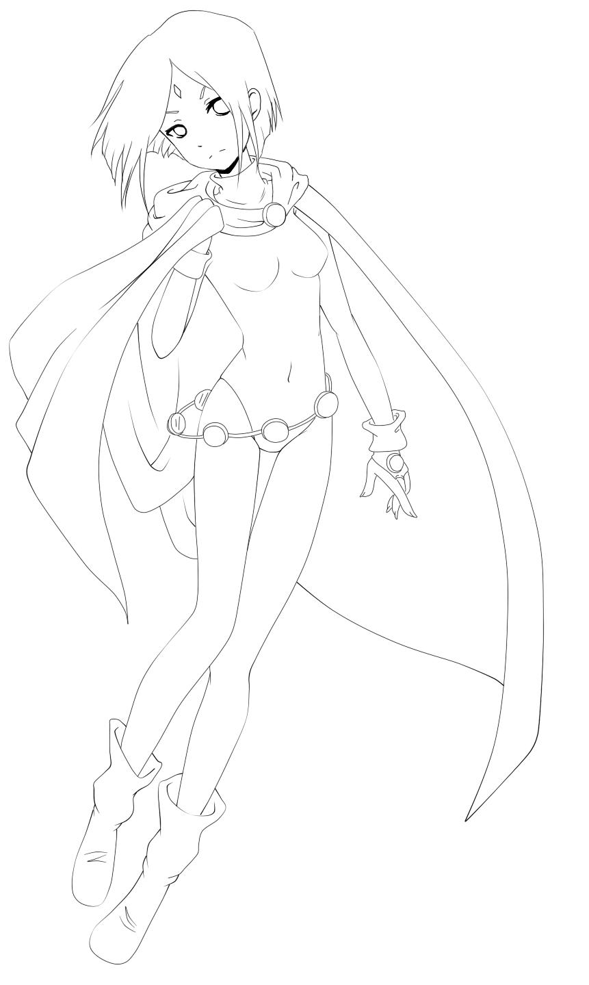 Line Drawing Raven : Raven line art by koike sama on deviantart