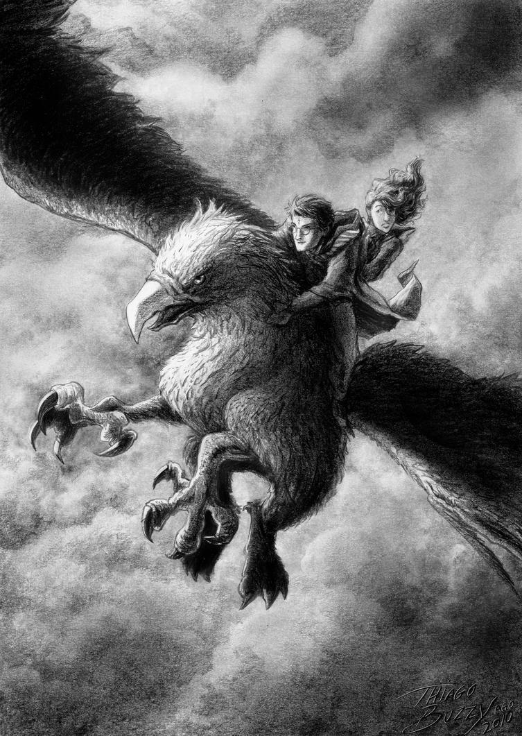 The Flight of Buckbeak by ThiagoBuzzy