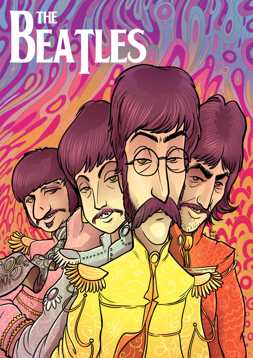 The Beatles Poster by ThiagoBuzzy on DeviantArt