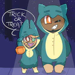 Trick or Treatin' by NPC-Jes