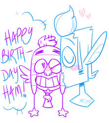 Happy Birthday Ham! by NPC-Jes