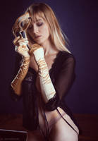 Martyna and mask by darkelfphoto