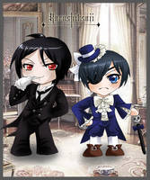 Sebastian and Ciel Chibis by MelfinaCosplay