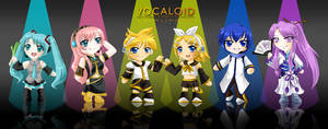 Chibis of the Rainbow by MelfinaCosplay