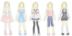 Sasha's Clothes, Casual by MelfinaCosplay
