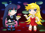 Panty and Stocking Chibis by MelfinaCosplay