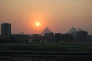 Three Pyramids Sunset by mynando