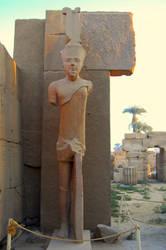 Karnak Temple 7 Statue by mynando