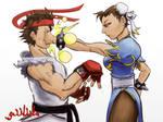 Chun-Li. Ryu. Pow.