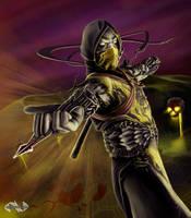 Mortal Kombat Scorpion Concept by mynando