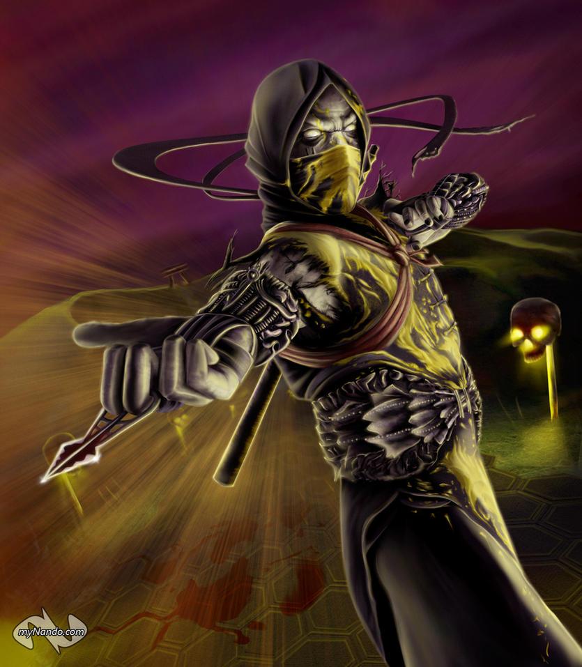 Scorpion Mortal Kombat 9 Face Scorpion. scorpion mortal