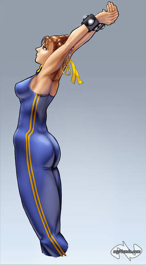 Super Chun Li Stretching