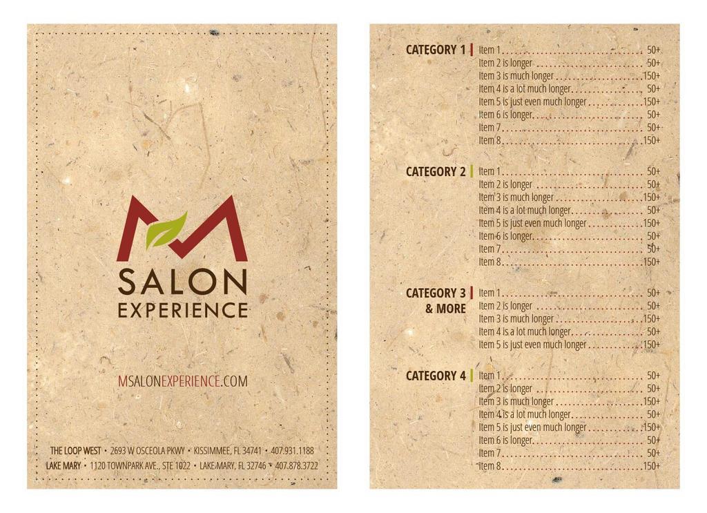 Salon Menu Concept 1 by mynando