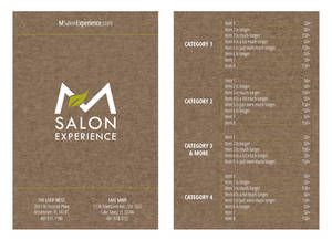 Salon Menu Concept 2