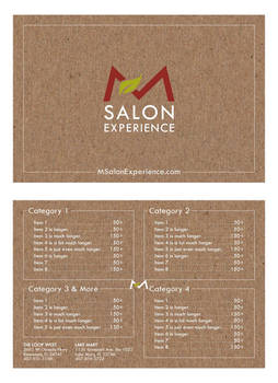 Salon Menu Concept 3