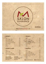 Salon Menu