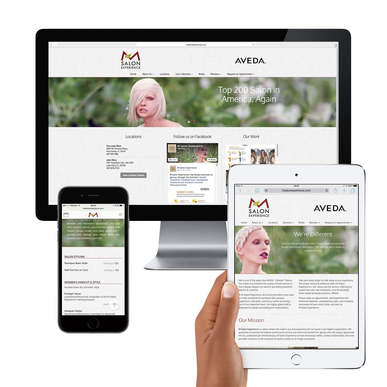 Responsive WordPress Website for Hair Salon