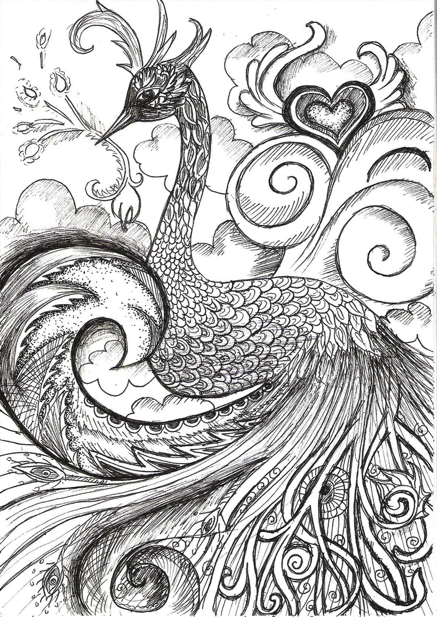 Peacock by vivsters on DeviantArt