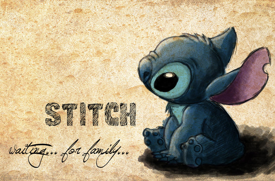 Stitch waiting for family