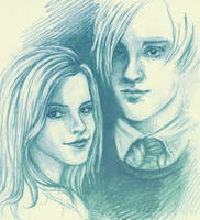 Draco and Hermione by vivsters