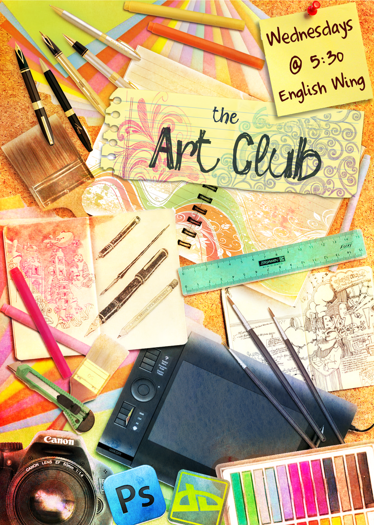 poster craft ideas club poster by vivsters on deviantart 2731