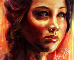 Katniss - The Girl on Fire by vivsters