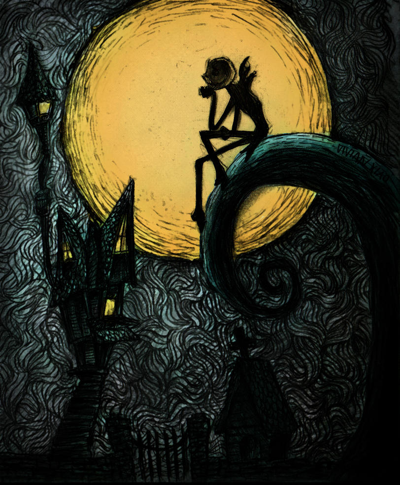 Nightmare Before Christmas - color by vivsters on DeviantArt