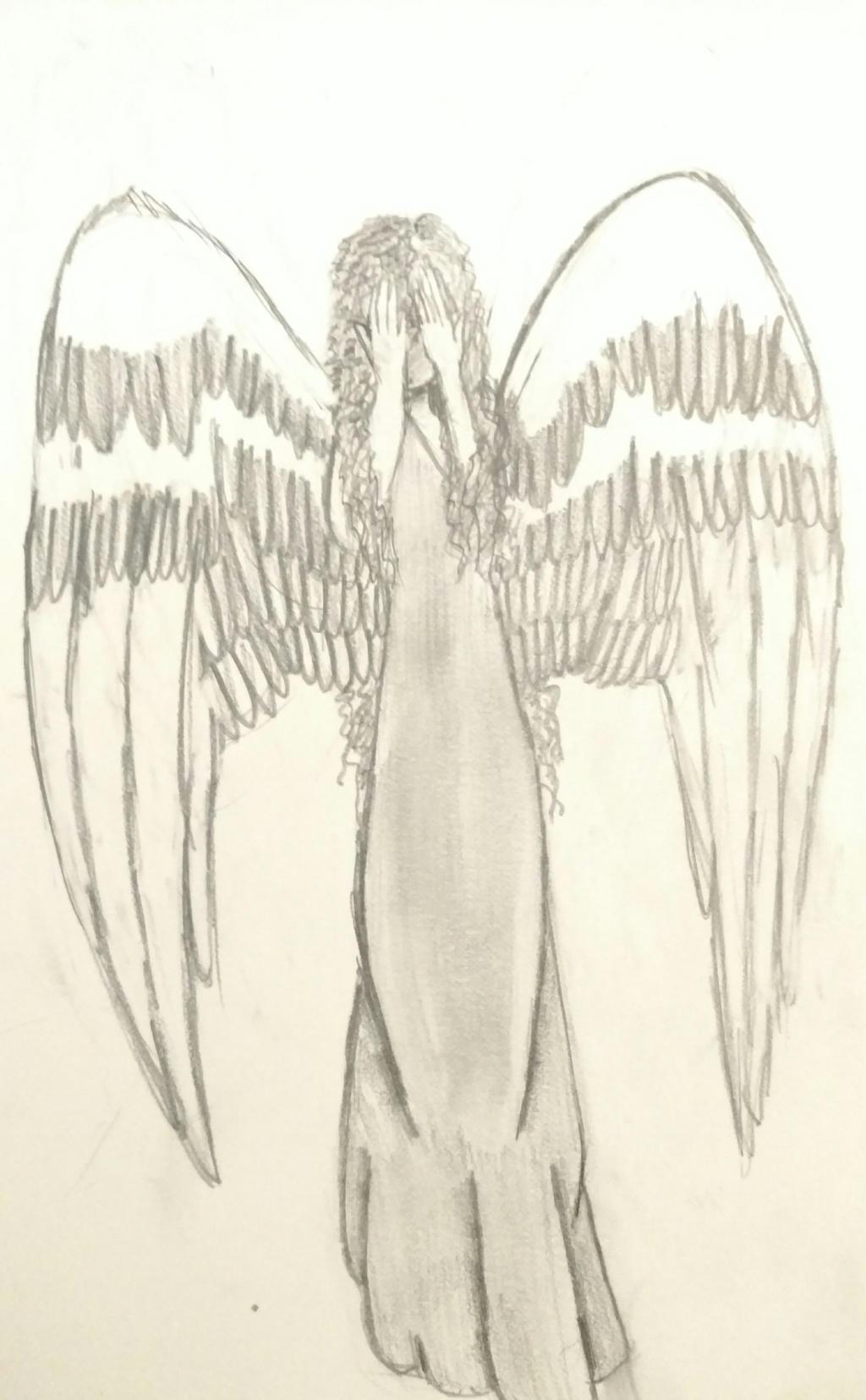 The Crying Angel by wolf-karpova