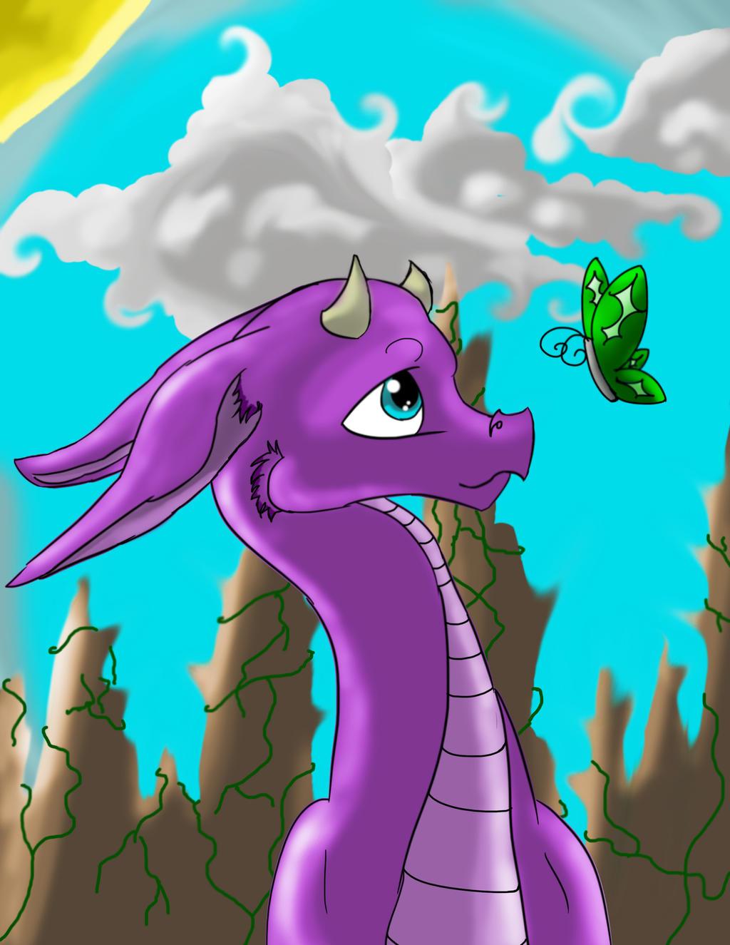 Purple Dragon by wolf-karpova