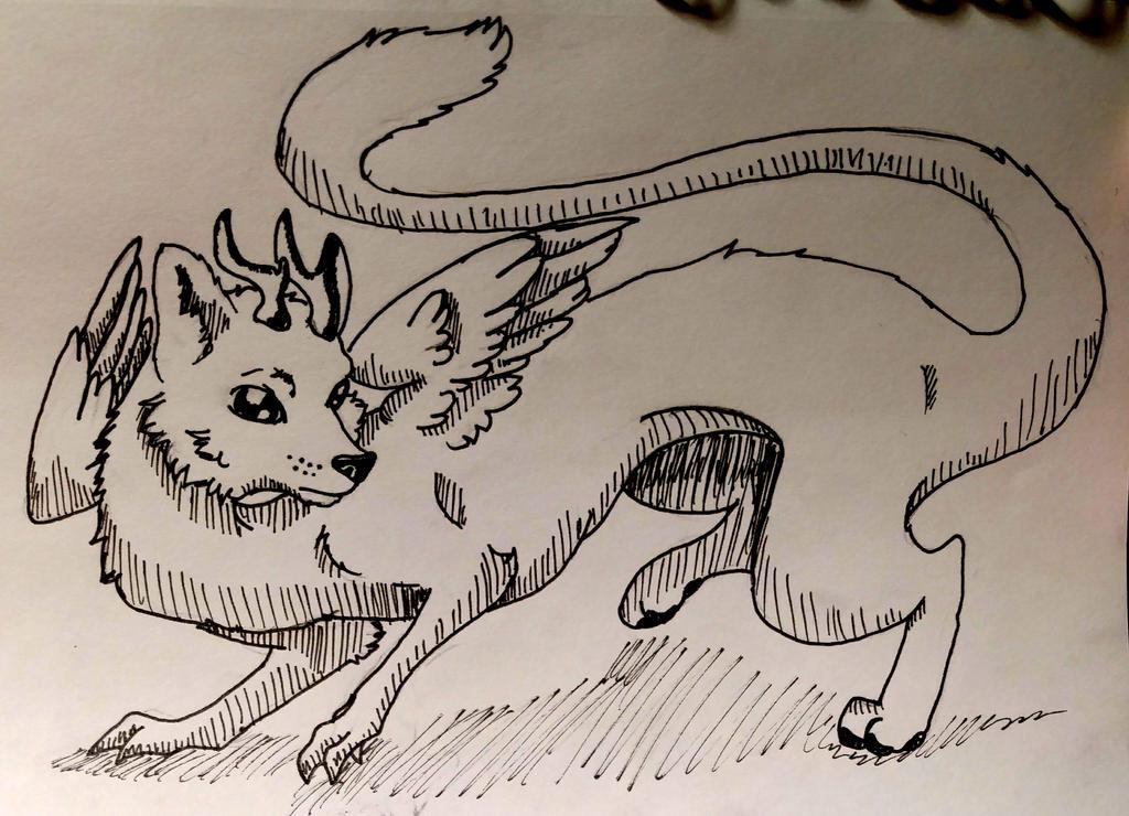 The Marten Dragon by wolf-karpova