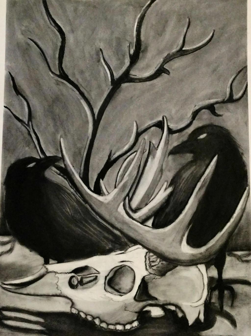 The Woods by wolf-karpova