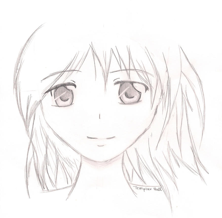 how to draw a face from the side anime