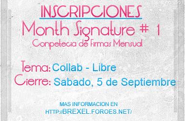 MonthSignature 1-Inscripciones by Brexel