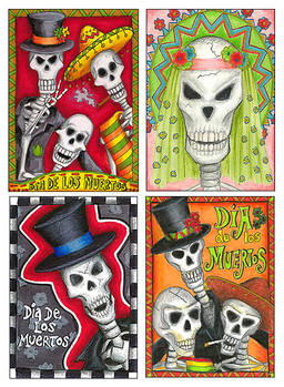 ATCs - Day of the Dead