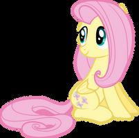 Fluttershy Sitting by Siaphra