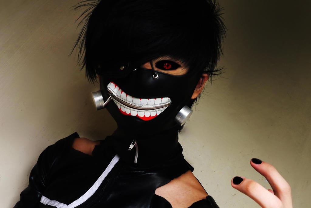 Ken Kaneki Black Hair Mask