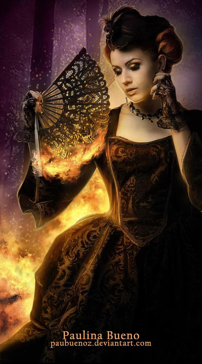 Fantasy fire queen
