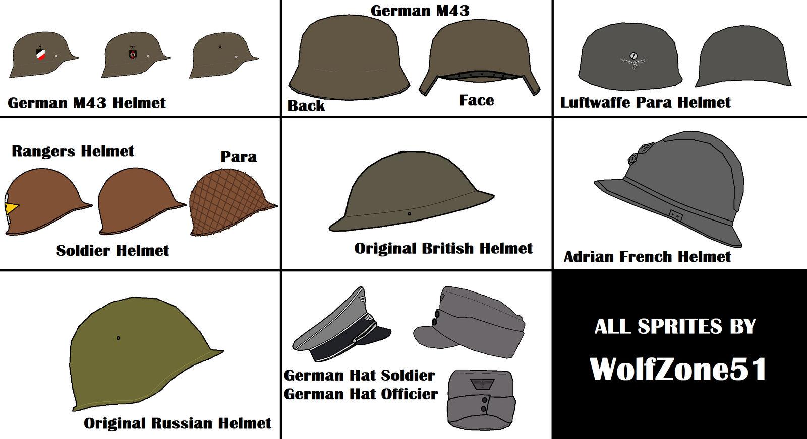 World War II - Helmet Pack by WolfZone51 on DeviantArt