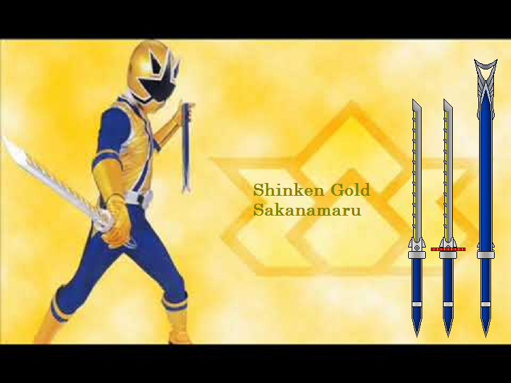 NEW BANDAI SAMURAI SENTAI SHINKENGER SAKANAMARU DX GOLD ...
