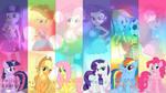 Mane six Equestria Girls wallpaper