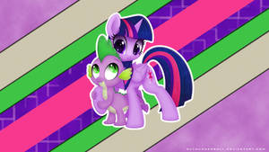 Spike and Twi Wallpaper