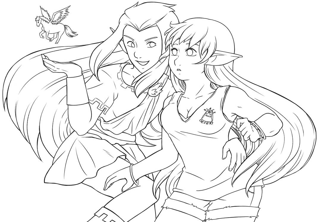 (lineart) Puck and Serenity 2021 Re-draw