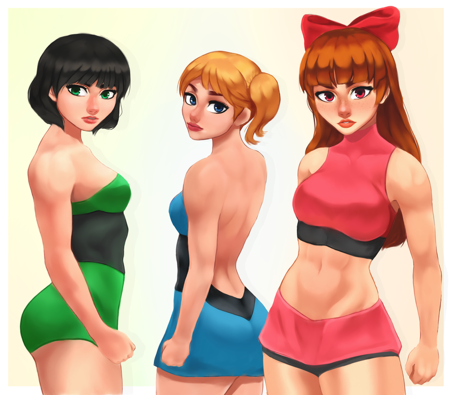 The Powerpuff Girls- Fanart by Aozee