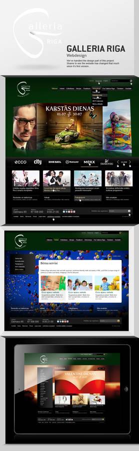 Galleria Riga shopping centre webdesign