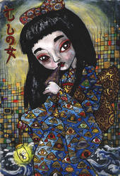 Ryden+Klimt+Japanese Print by Hen-na-Ningyo