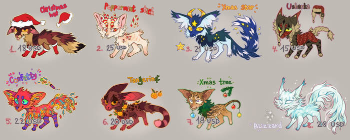 MERRY XMAS ADOPT PACK #20 [ CLOSED ]
